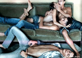 Calvin klien orgy ad