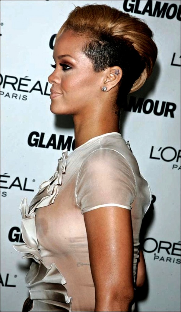Rihanna White Dress Nip Slip